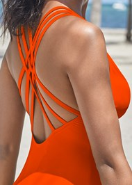 Detail back view Strappy Back One-Piece