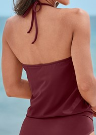 Detail back view High Neck Blouson Tankini Top