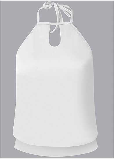 Plus Size High Neck Blouson Tankini Top