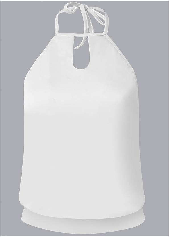 Ghost with background  view High Neck Blouson Tankini Top