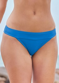 Detail front view Banded Moderate Swim Bottom
