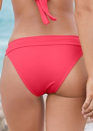 Detail back view Banded Moderate Swim Bottom