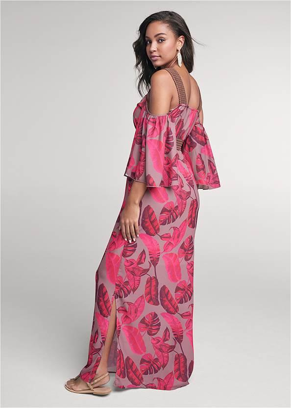 Alternate View Cold Shoulder Palm Dress