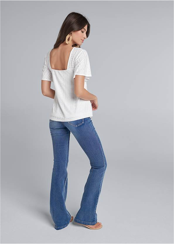 Back View Eyelet Top