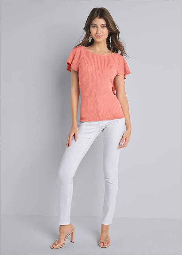Front View Ruffle Top