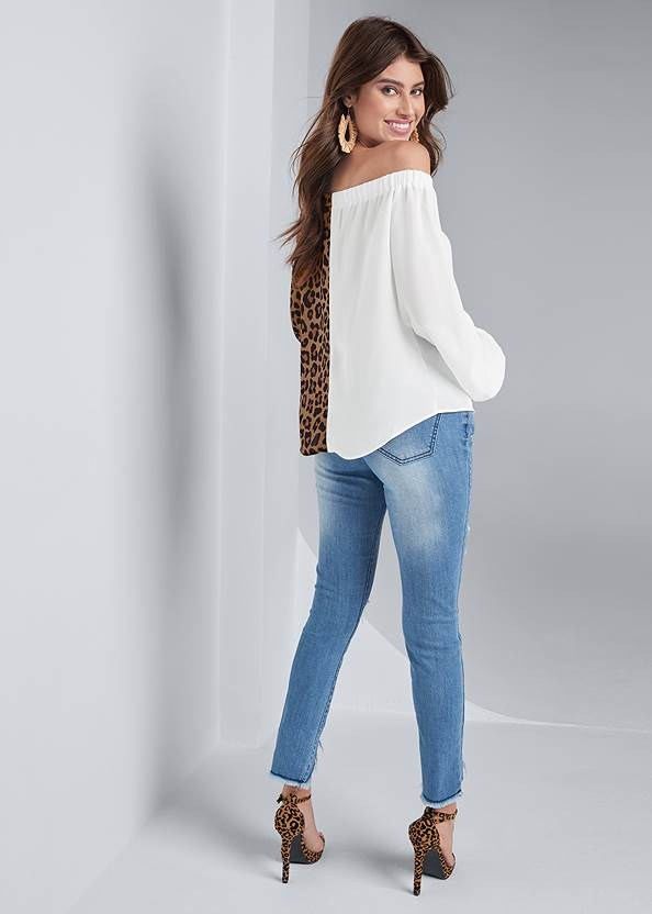 Back View Leopard Print Top