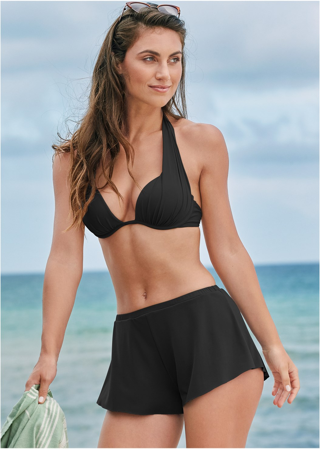 Swim Full Coverage Shorts,Marilyn Underwire Push Up Halter Top,Underwire Wrap Top,Jillian Underwire Top