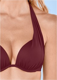 Detail front view Marilyn Underwire Push Up Halter Top