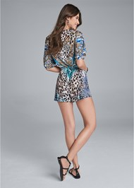 Back View Casual Print Romper