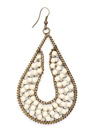 Alternate View Beaded Drop Earrings