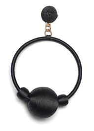 Alternate View Bauble Hoop Earrings