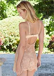 Cropped back view Sheer Lace Chemise