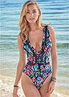 Cropped front view Grommet Tassel One Piece