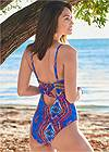 Cropped back view Elastic One-Piece