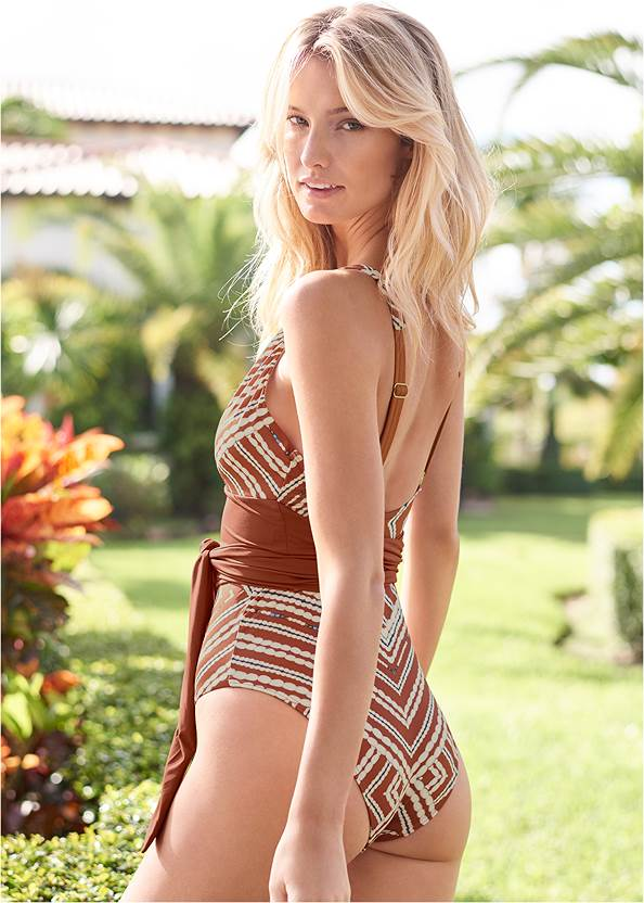 Cropped back view Sustainable Giada One-Piece