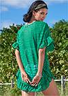 Alternate View Ruffle Tunic Cover-Up