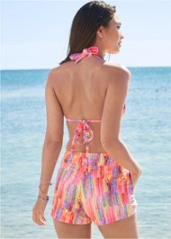Cropped back view Board Short Cover-Up