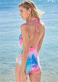 Cropped back view Skye Sustainable One-Piece