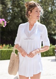Full front view Sheer Tunic Cover-Up