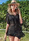 Front View Ruffle Tunic Cover-Up