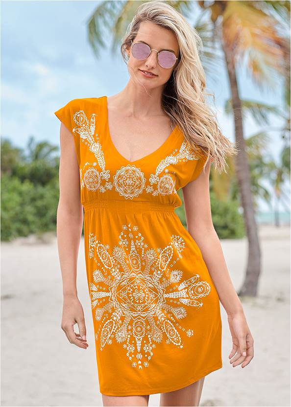 Print Dress,Luxe One-Piece