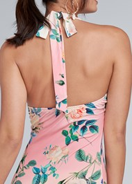 Alternate View Halter Printed Maxi Dress