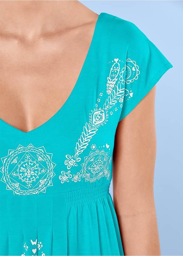 Front View Print Dress