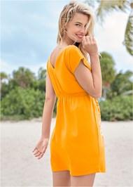 Back View Print Dress