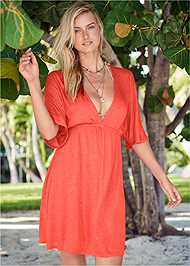 Front View Deep V Cover-Up Tunic