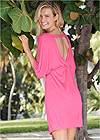 Back View Deep V Cover-Up Tunic