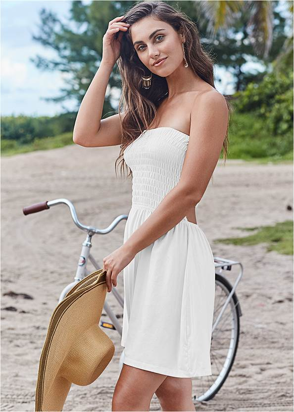 Front View Strappy Cover Up Dress