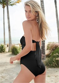 Back View Bandeau Ring One-Piece