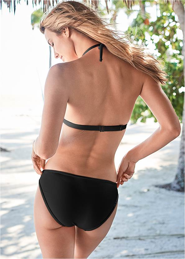 Back View Pleated Push Up Triangle Top