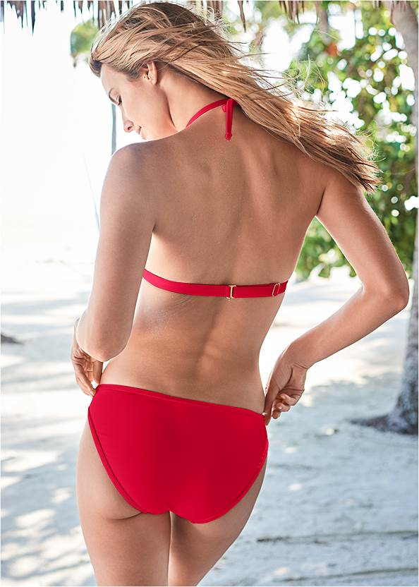 Back View Pleated Push Up Triangle