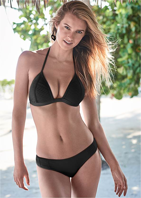 Alternate View Pleated Push Up Triangle Top