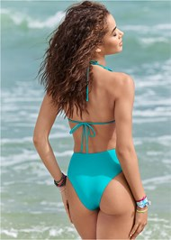 Cropped back view Reversible Monokini