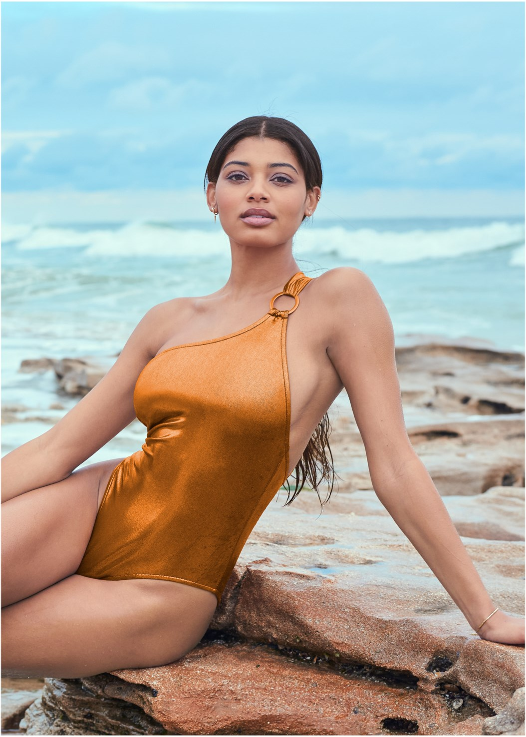 Sports Illustrated Swim™ Sleek One Shoulder One-Piece