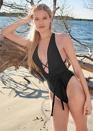 Plus Size Sports Illustrated Swim™ Brazilian Wrap One-Piece