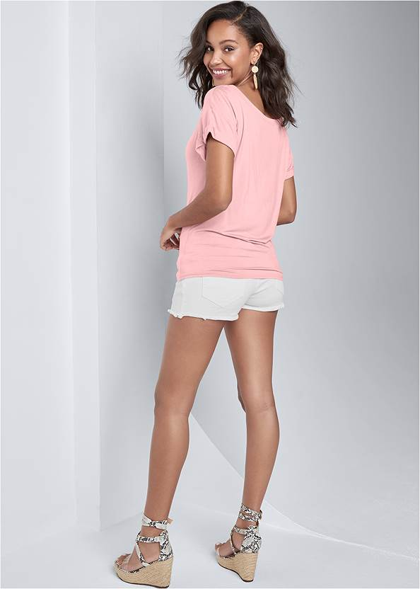 Back View Casual Knot Front Top