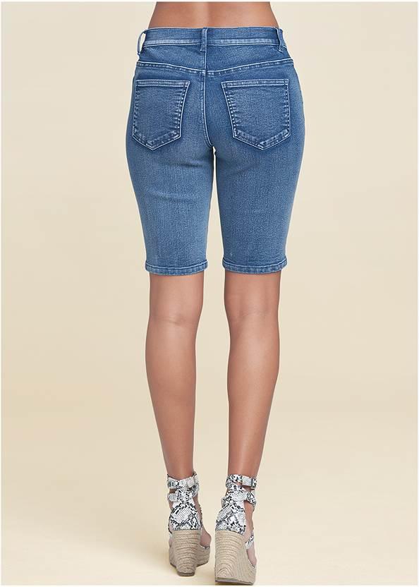 Waist down back view Jean Bermuda Shorts