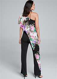 Back View One Shoulder Jumpsuit