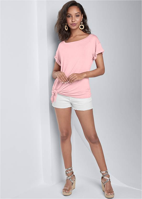 Alternate View Casual Knot Front Top