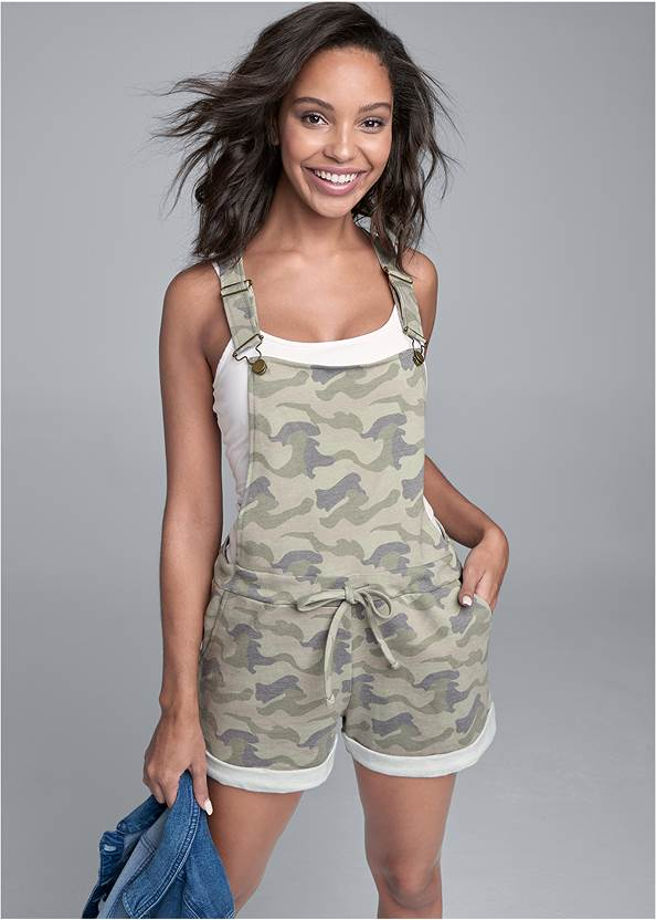 Lounge Short Overalls,Basic Cami Two Pack