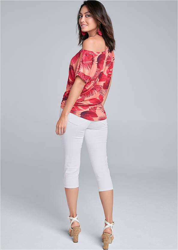 Back View Printed Casual Tee