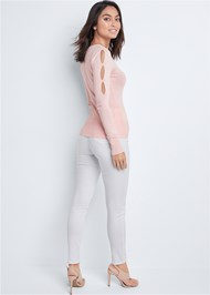 Back View Cut Out Detail Sweater
