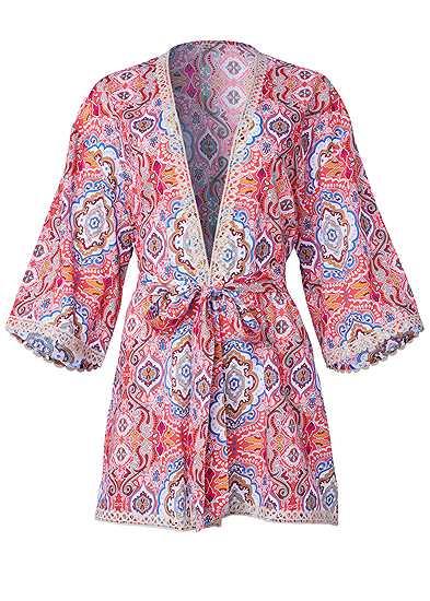 Plus Size Lace Detail Robe