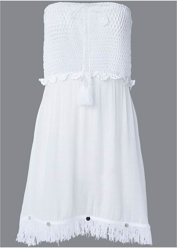 Ghost with background  view Crochet Cover-Up Dress