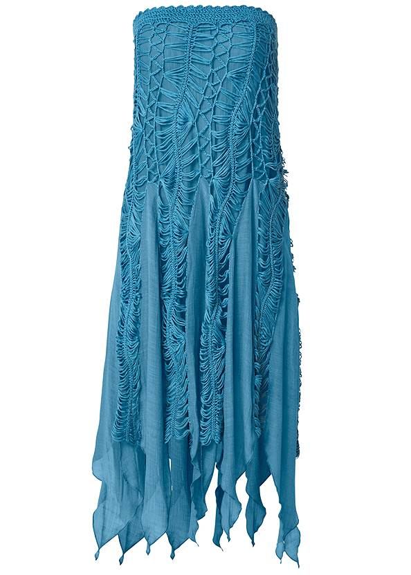 Ghost with background  view Convertible Fringe Coverup
