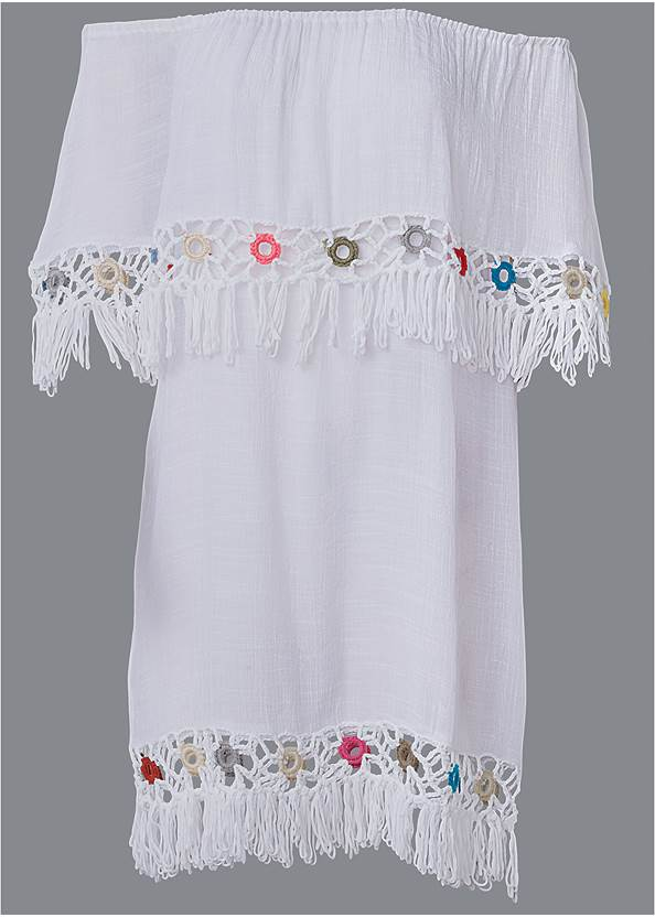 Ghost with background  view Cover-Up Dress