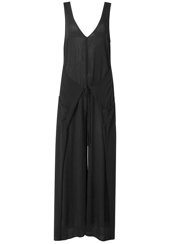 Ghost with background  view Wrap Romper Cover-Up